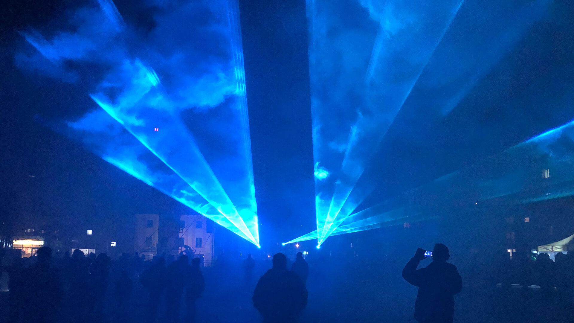 laser przestrzenny pokazy