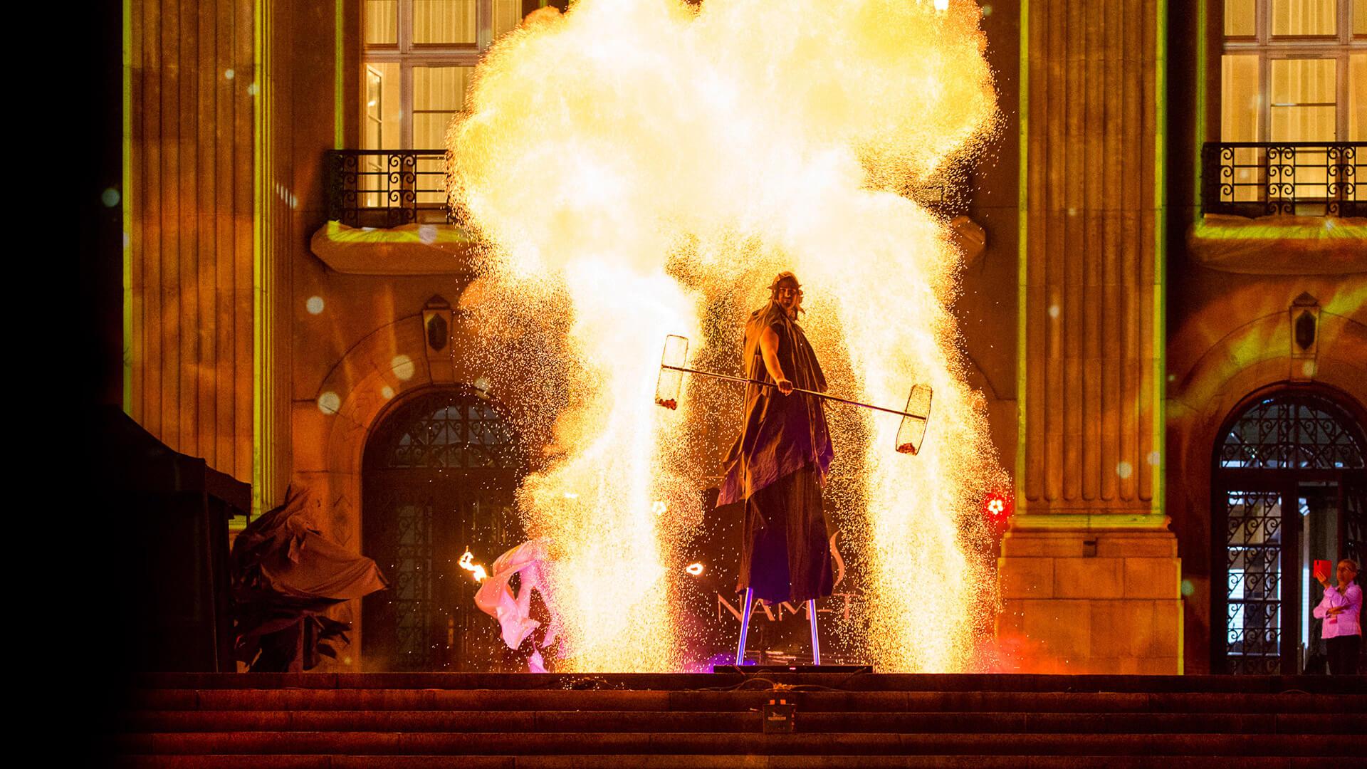 Fireshow w Katowicach